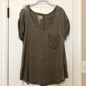"Free People ""We The Free"" distressed tee"